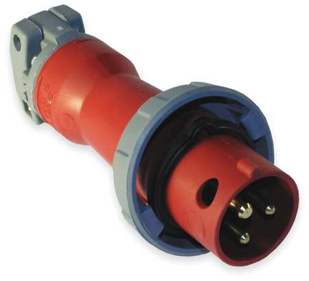 IEC Pin and Sleeve Plug,2P,3W,30A,480V HUBBELL WIRING DEVICE-KELLEMS HBL330P7W