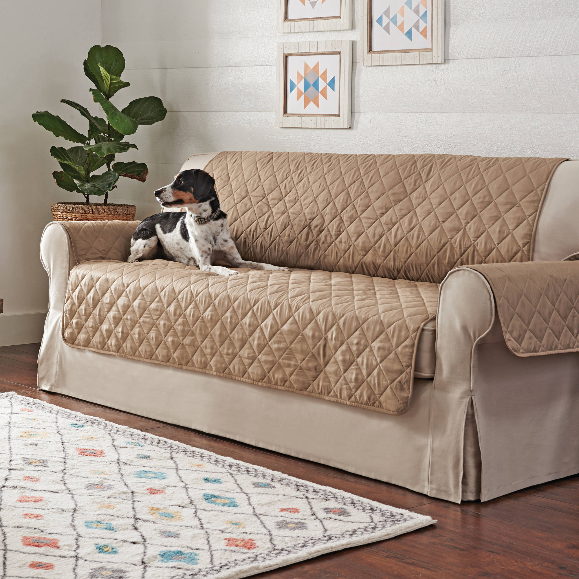 Better Homes and Garden Non-Skid Waterproof Quilted Pet Sofa Cover -  Walmart.com 523dbe6f3