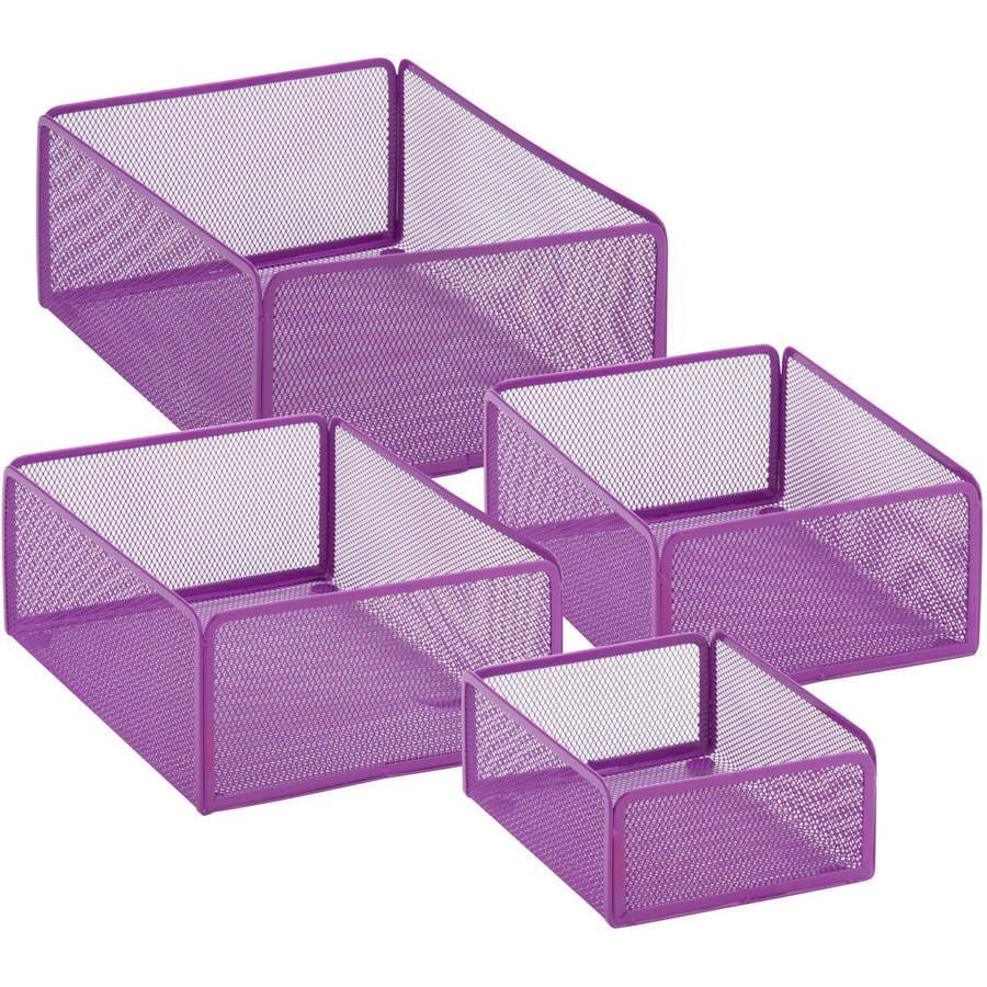 Honey-Can-Do Excessory Basket Set, Purple