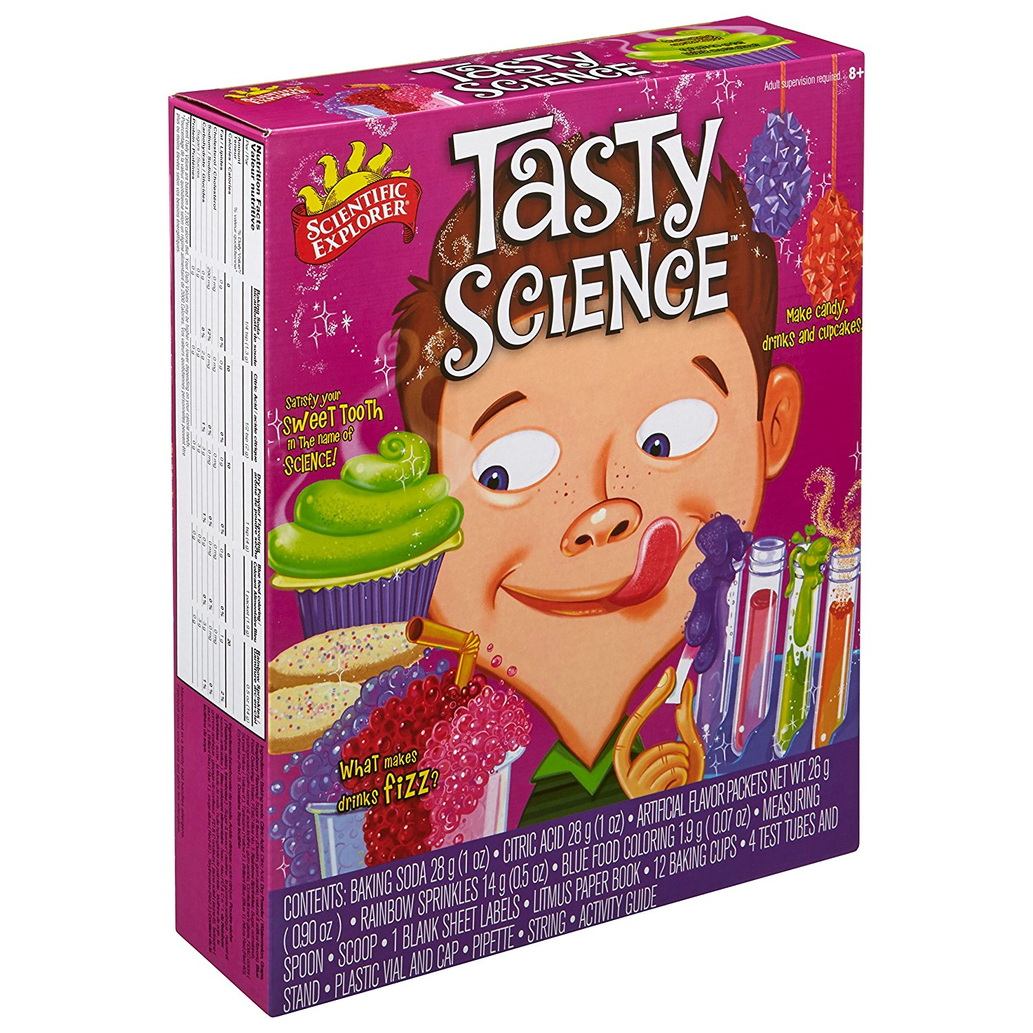 Tasty Science Kit, Tasty Science is packed with ingredients, recipes, activity cards, a test tube laboratory, and lots more to explore the science of taste By Scientific Explorer