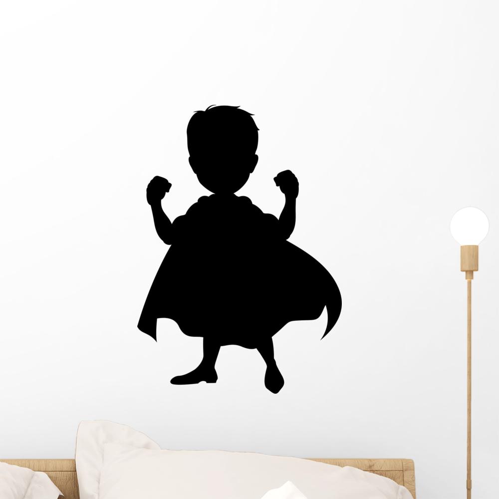 Superhero Washes Kids Bathroom Quote Wall Art Stickers Decals Vinyl Decor Room H Medium,Black