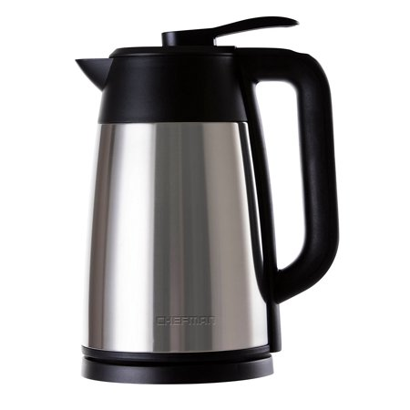 Vacuum Electric Kettle with Temperature Display, Stainless Steel, Auto Shut Off and Boil Dry Protection, 1.7Liter/1.8 Quart Capacity