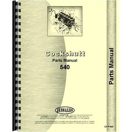 - New Tractor Parts Manual For Cockshutt 540