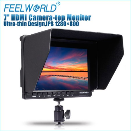 Feelworld FW-759 - 7'' Slim Design Ultra HD IPS 1280x800 Field Monitor with HDMI (Best Field Monitor For Gh4)