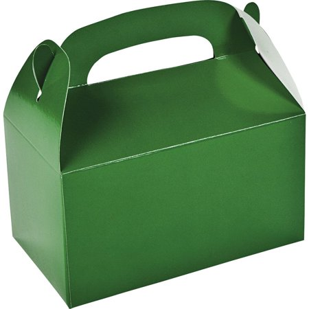 Green Favor Boxes (Green Treat Favor Boxes (6 Pack) - Party Supplies)