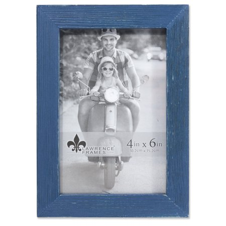 4x6 Charlotte Weathered Navy Blue Wood Picture -