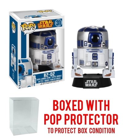Funko Pop! Star Wars - R2-D2 Bobble Head Vinyl Figure (Bundled with Pop BOX PROTECTOR CASE), Bundled Plastic Box Protector with the collector in mind.., By Pop Protector