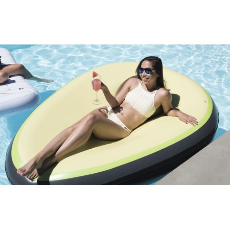 Sit In The Pit - Giant Premium Inflatable Avocado Pool Float Mattress - Alligator Pool Float