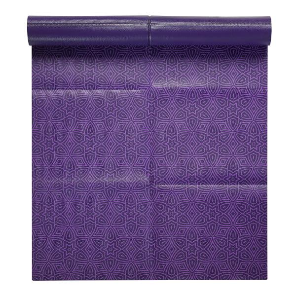 Gaiam Foldable Yoga Mat, Grape Mandala, 2mm