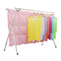 GHP 165-Lbs Capacity Stainless Steel Free Standing Folding Clothes Drying Rack