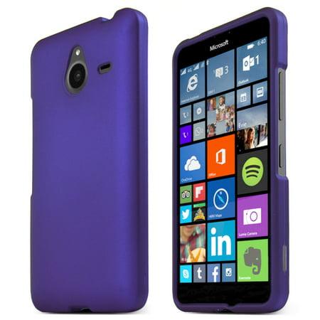 the latest b73c4 12507 Nokia Lumia 640 XL Case, [PURPLE] Slim & Protective Rubberized Matte Finish  Snap-on Hard Polycarbonate Plastic Case Cover + Free KarenDeals Microfiber  ...