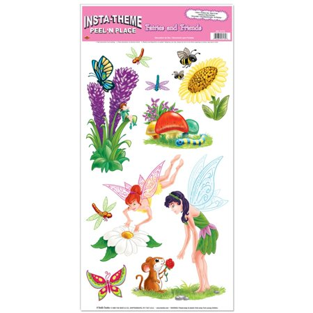 Club Pack of 108 Fun and Colorful Fairies & Friends Peel 'N Place Cutout Decorations 24