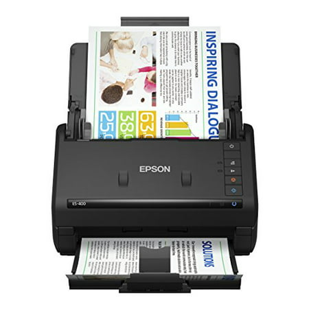 Epson WorkForce ES-400 Color Duplex Document Scanner for PC and Mac, Auto Document Feeder (Best Small Office Scanner)