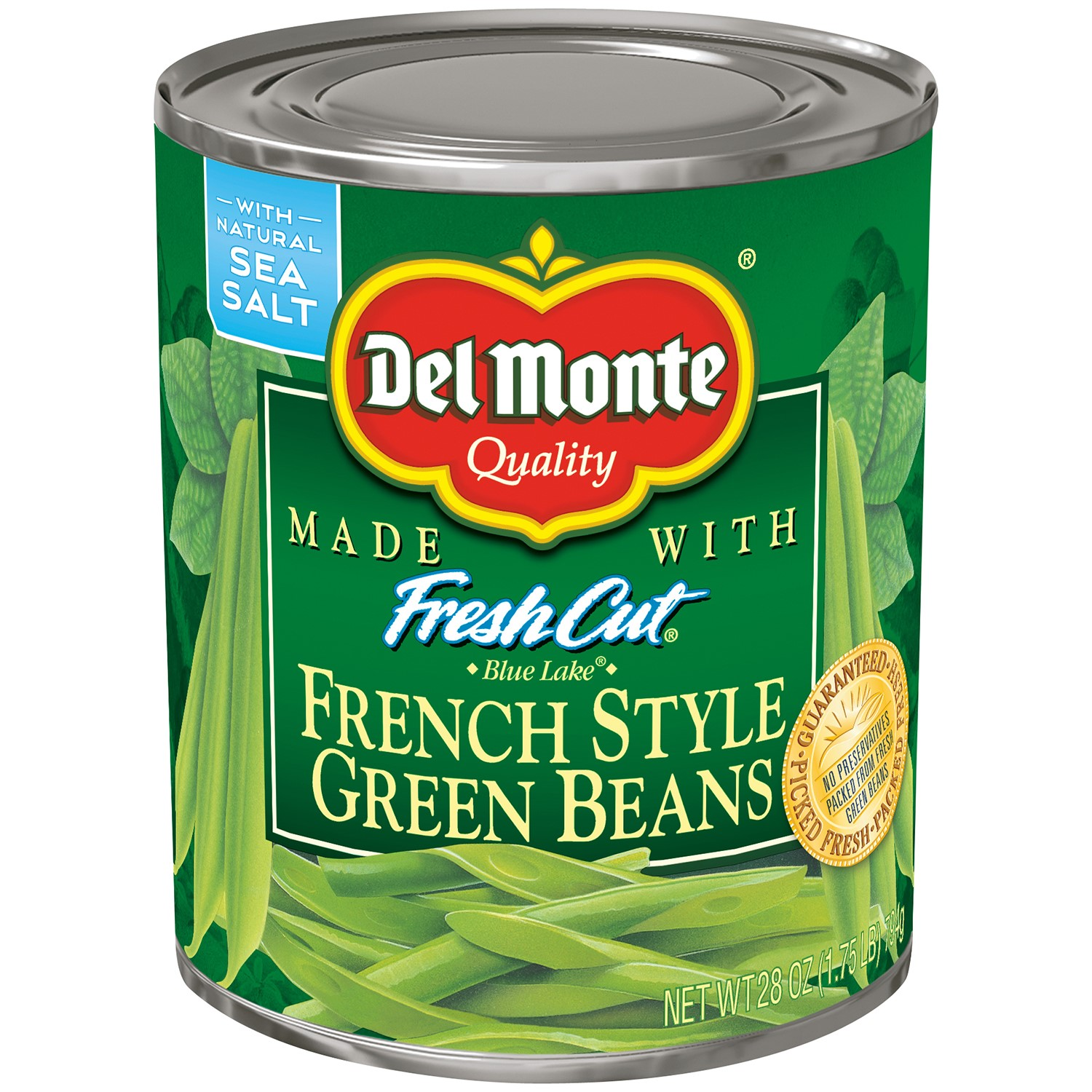 Del Monte French Style Blue Lake Green Beans, 28 Oz