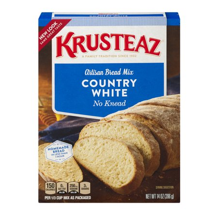 Cholesterol Free Bread ((2 Pack) Krusteaz No Knead Artisan Bread Mix, Country White, 14oz Box )