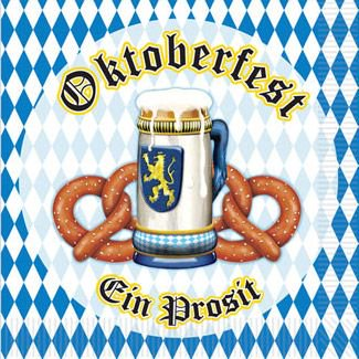 Oktoberfest Beverage Napkins (16 Pack) - Party Supplies for $<!---->