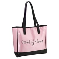 lillian rose pink maid of honor tote bag wedding party gift