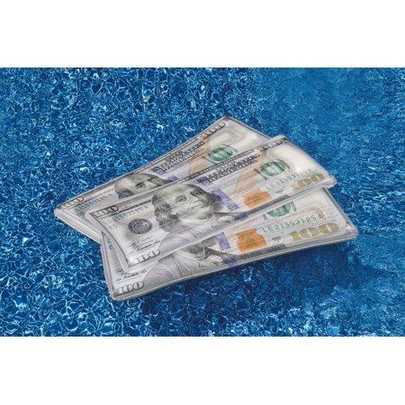 Swimline Floating Inflatable Swimming Pool $100 Money Water Swim Float Raft - image 5 of 5