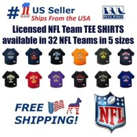 Pets First NFL Detroit Lions Pet T-Shirt. Licensed, Wrinkle-free, Tee Shirt for Dogs/Cats. Football Shirt