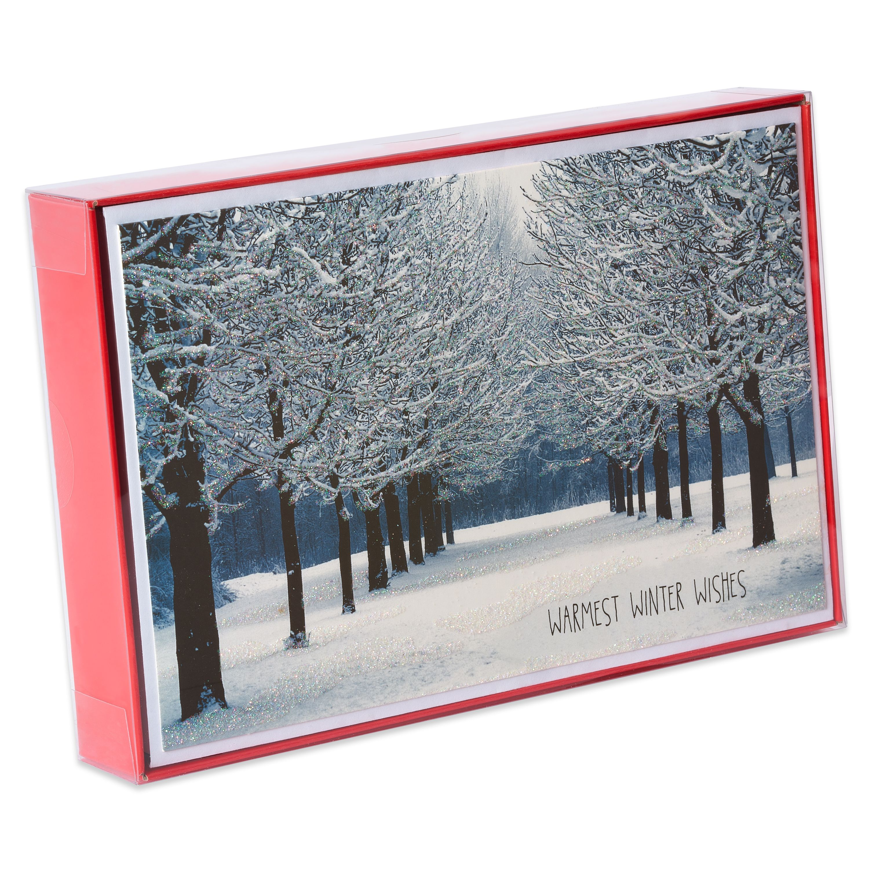 American Greetings Deluxe Snowy Park Holiday Wishes Boxed Cards and ...