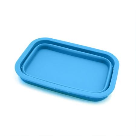 Blue Silicone Retangle Shaped Car Dashboard Non-Slip Phone Holder Storage Box for $<!---->