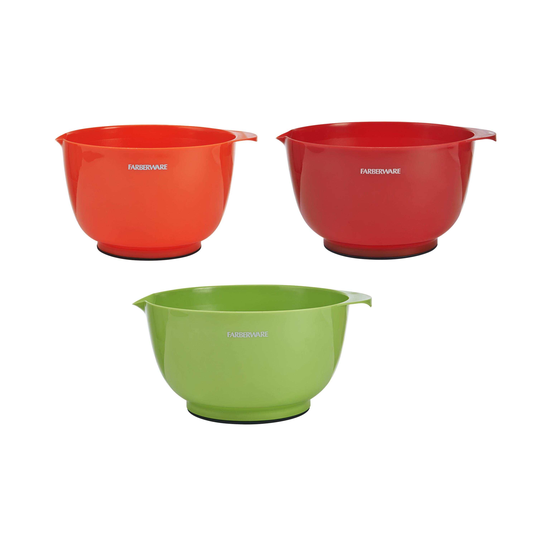 Farberware 5183776 Professional Hugger Mixing Bowls Clear Set of 3