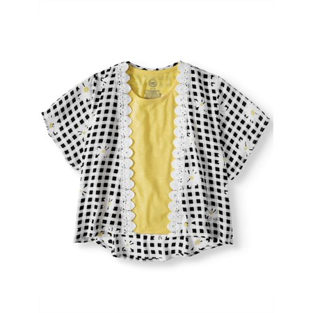 Little Tee Tee Lace And Trims (Lace Trim Kimono and Tank, 2-Piece Set (Little Girls & Big)