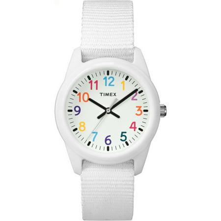 Timex Girls Time Machines White Watch  Nylon Strap