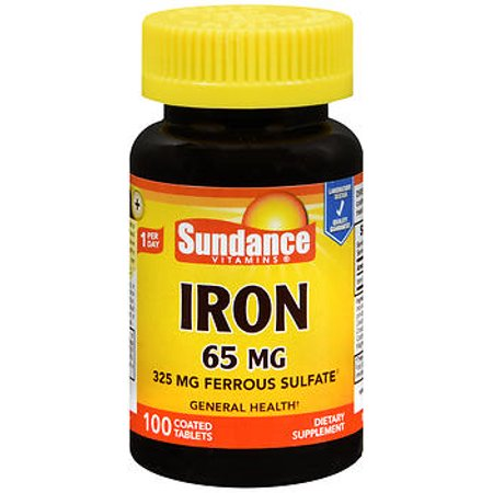 Sundance Vitamins Iron 65 Mg   100 Tablets