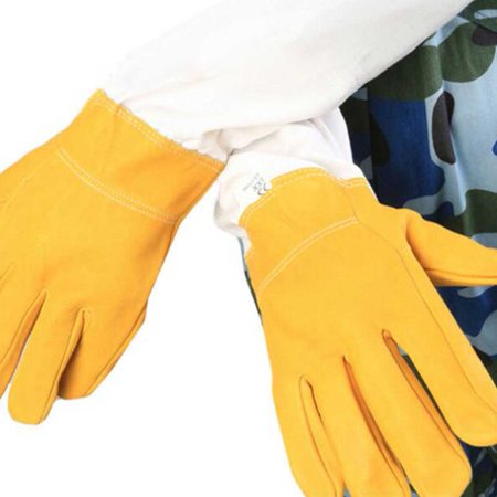 1Pair Beekeeper Prevent Gloves Protective Sleeves Ventilated Professional Anti Bee for Apiculture Beekeeper Beehive