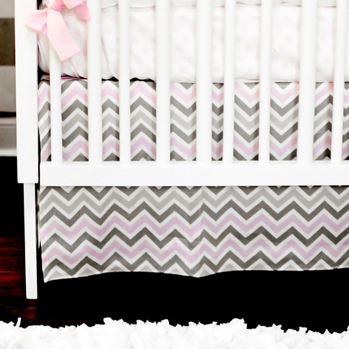New Arrivals Peace, Love and Pink 2 Piece Crib Bedding Set