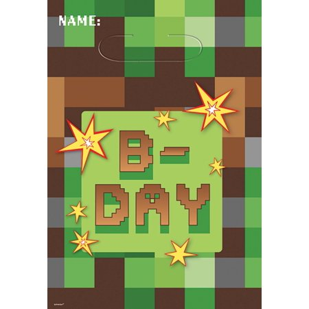 (3 pack) TNT Minecraft Party Favor Bags, 24ct total](Minecraft Birthday Party Supplies)
