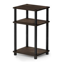 Product Image Furinno Just 3 Tier Turn N End Table Columbia Walnut