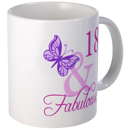 CafePress - Fabulous 18Th Birthday For Girls Mug - Unique Coffee Mug, Coffee Cup CafePress - Fabulous Birthday