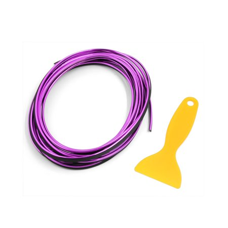 (Universal Purple Car Door Dashboard Instrument Decorative Moulding Trim Strip)