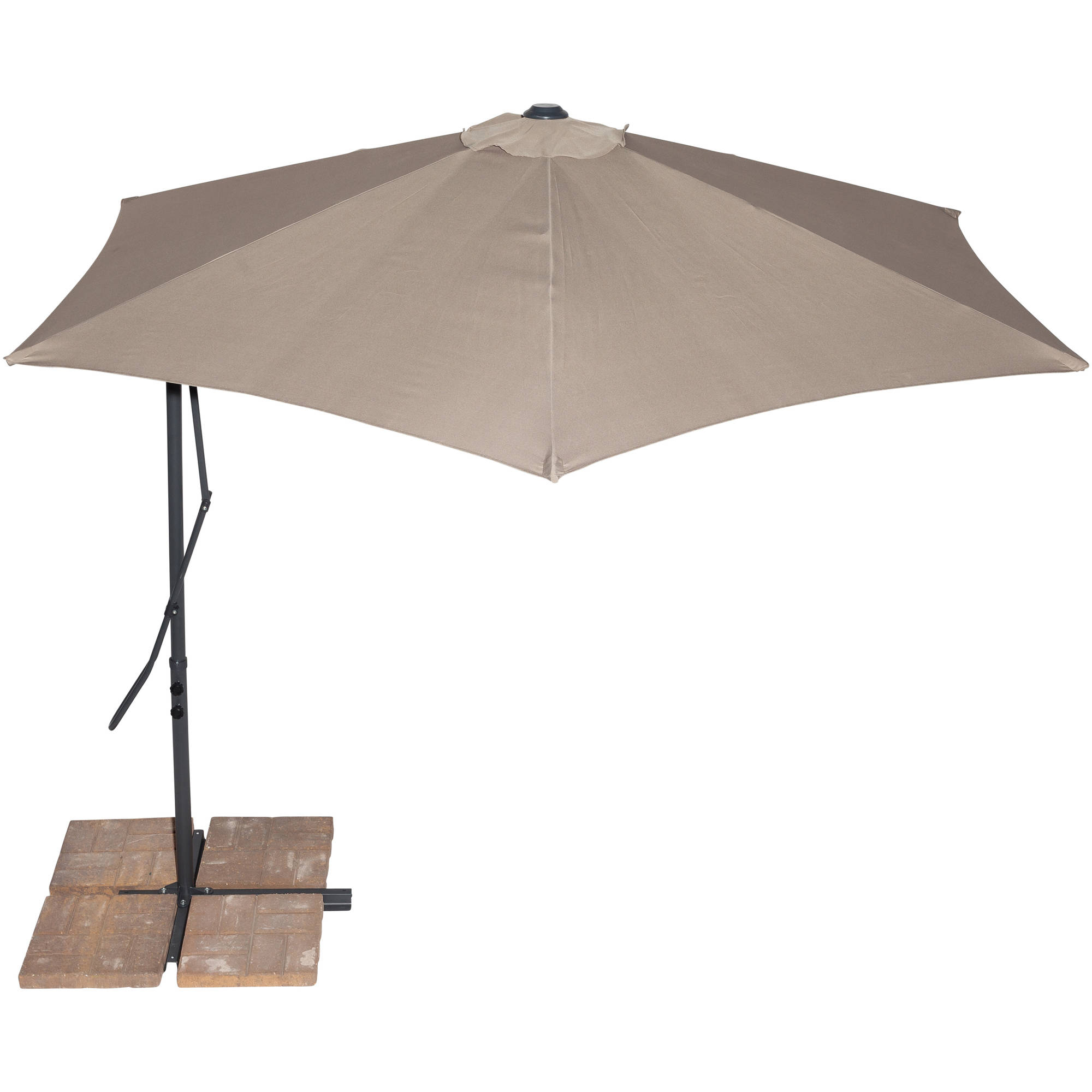 California Sun Shades 10' Cantilever Umbrella, Tan by Outdoor Umbrellas