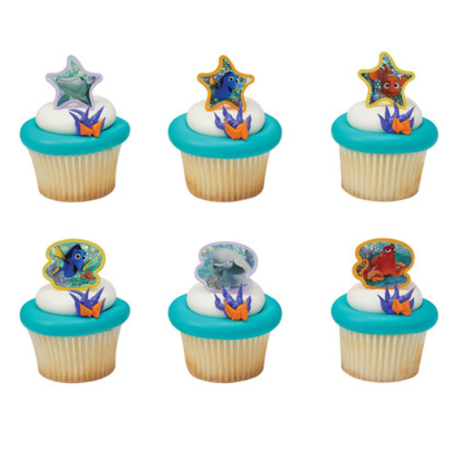 Finding Dory Cupcake Rings Party Of 24 Decoration Kit