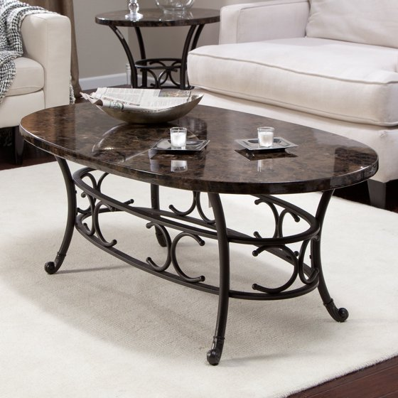 Marble Coffee Table Walmart: Muschio Faux Marble Coffee Table