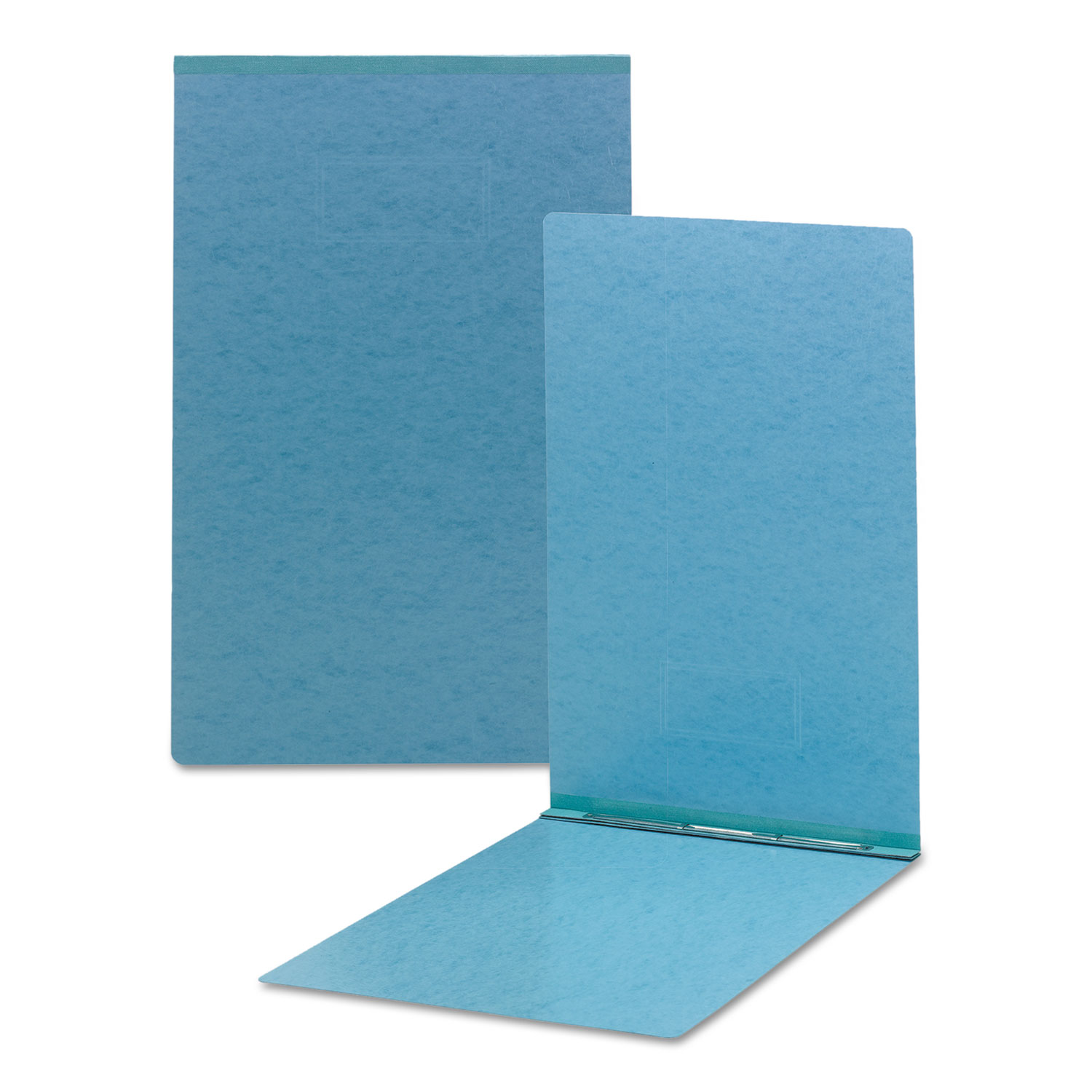 Click here to buy Top Opening Pressboard Report Cover, Prong Fastener, 11 x 17, Blue by Smead.