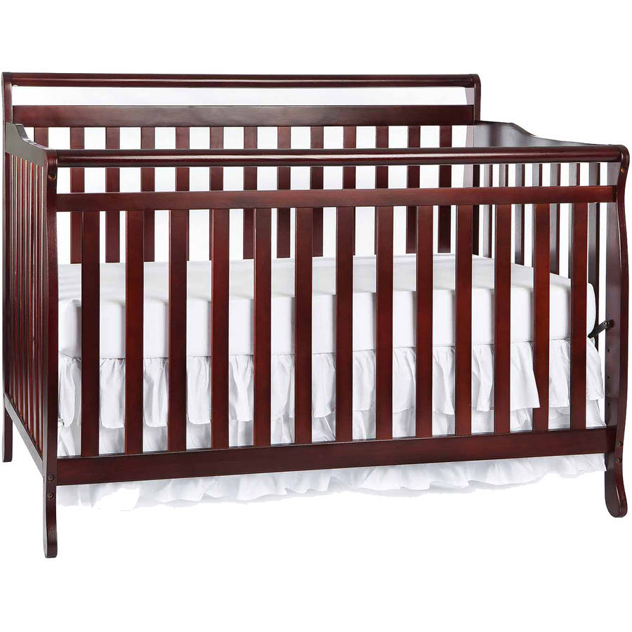 Dream On Me Liberty 5-in-1 Convertible Crib Cherry