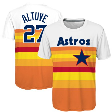separation shoes 722d9 d9785 Jose Altuve Houston Astros Majestic Youth Sublimated Cooperstown Collection  Jersey T-Shirt - Orange