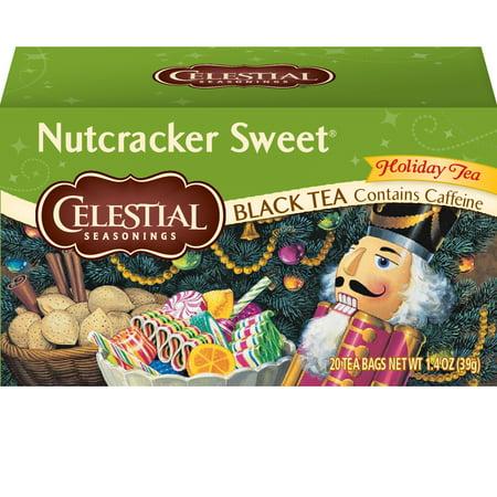 (2 Pack) Celestial Seasonings Black Tea, Nutcracker Sweet, 20 Count Sri Lanka Black Tea