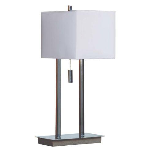 Kenroy Home Emilio Accent Lamp, Chrome