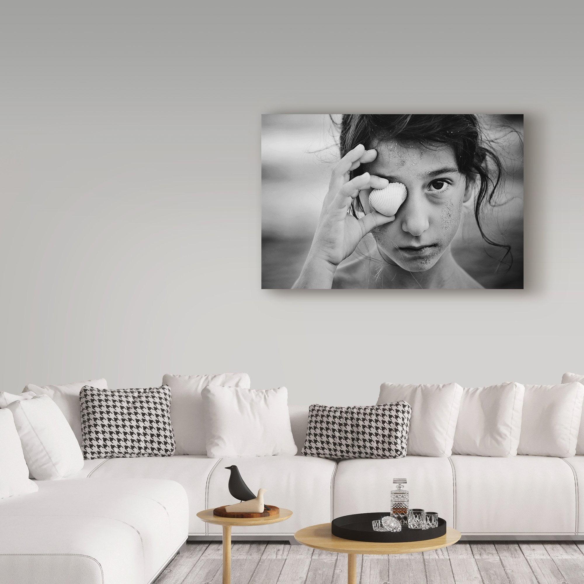 E063 Black White Woman Cool Retro Modern Framed Wall Art Large Picture Prints