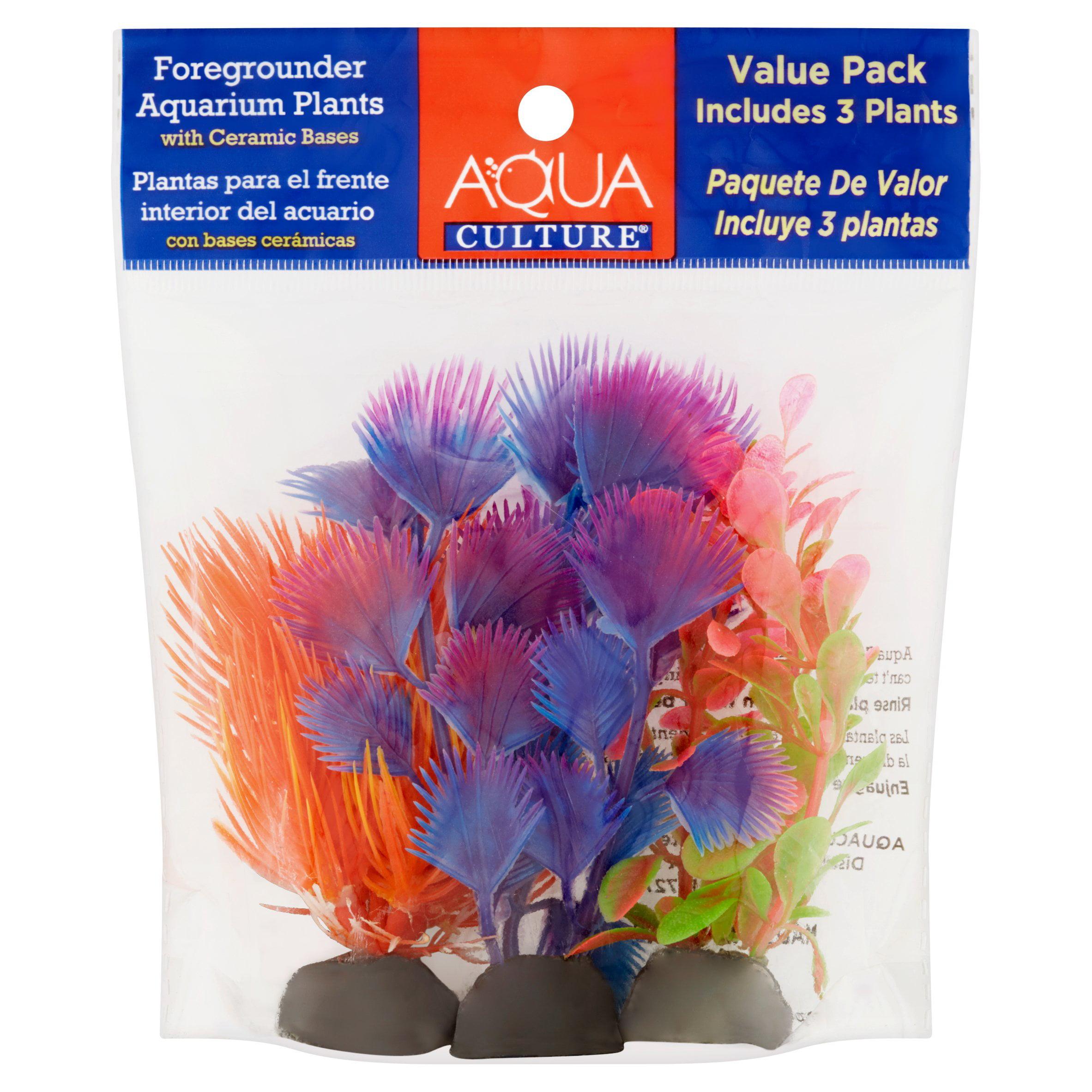Aqua Culture Foregrounder Aquarium Plants, 3 Ct by Wal-Mart Stores, Inc.