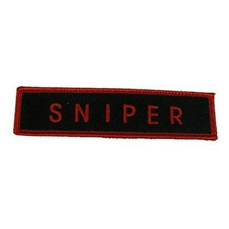 SNIPER TAB PATCH SHOOTING MARKSMAN SHARPSHOOTER RIFLE MILITARY LAW
