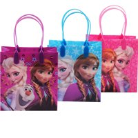 Disney Frozen Elsa , Anna and Olaf 12 Reusable Party Favors  Small Goodie Gift Bags 6""