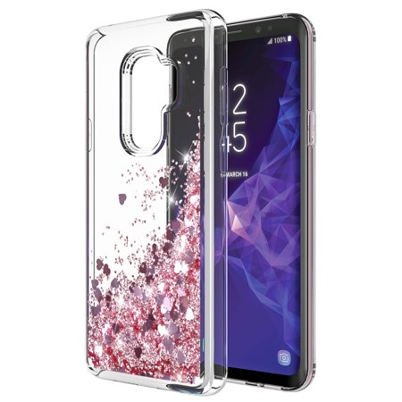 GALAXY S9 PLUS CASE, S9 PLUS CASE, Cute Sparkly Shiny Glitter Bling Luxury Fashion Liquid Quicksand for Teen Girls Women Soft Clear TPU Bumper Cover For SAMSUNG GALAXY S9 PLUS
