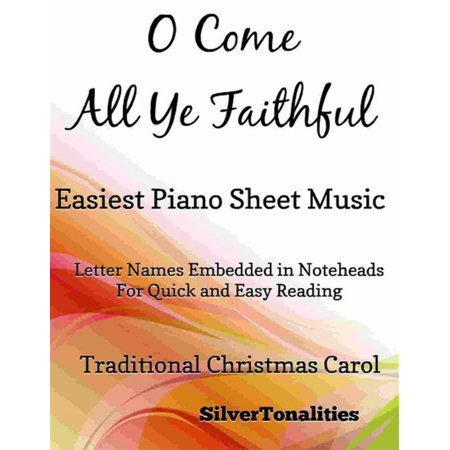 O Come All Ye Faithful Easiest Piano Sheet Music - (O Come All Ye Faithful Violin Sheet Music)