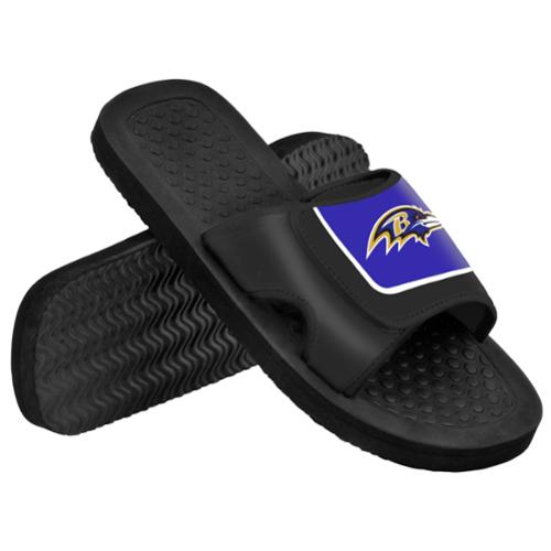 Baltimore Ravens NFL Men's Shower Slide Flip Flops Medium